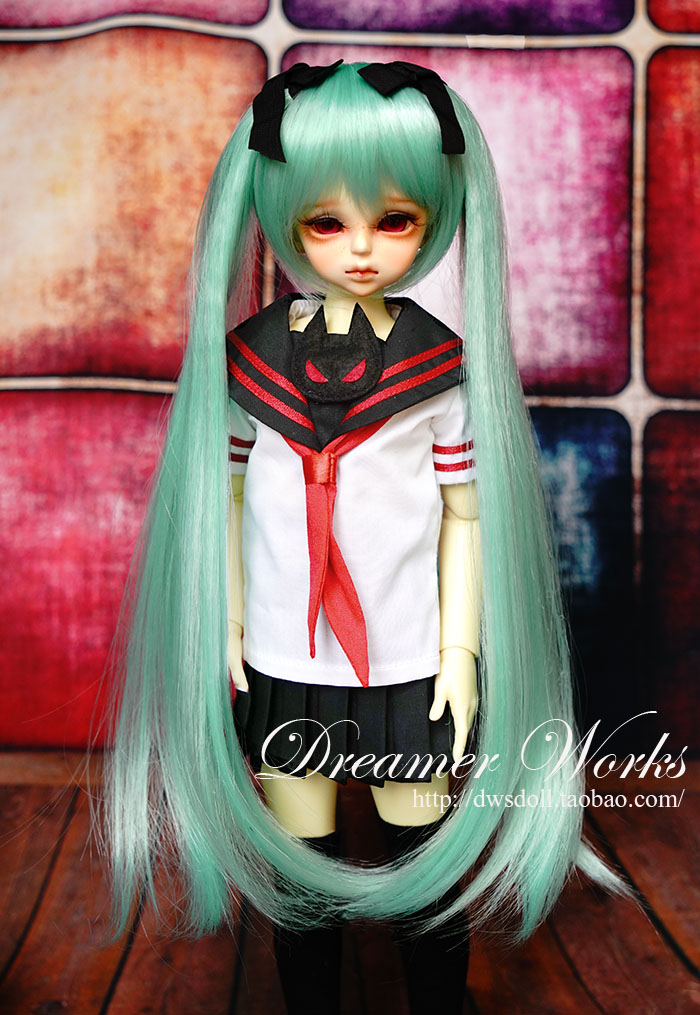 1/4 scale BJD wig Hatsune Miku hair for BJD/SD DIY doll accessory.Not included doll,clothes,shoes,and other accessories 17C3191