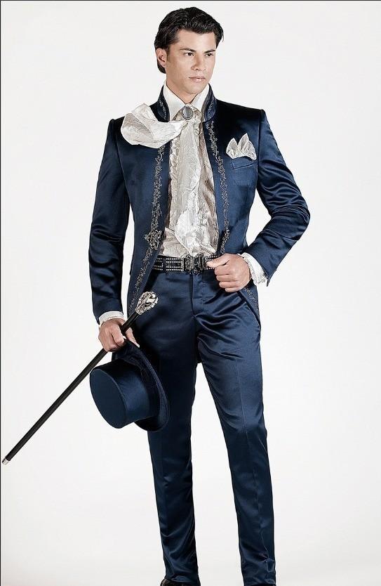 Men/'s Black Embroidery Groom Tuxedo Slim Fit Formal Wedding Suit Custom Made