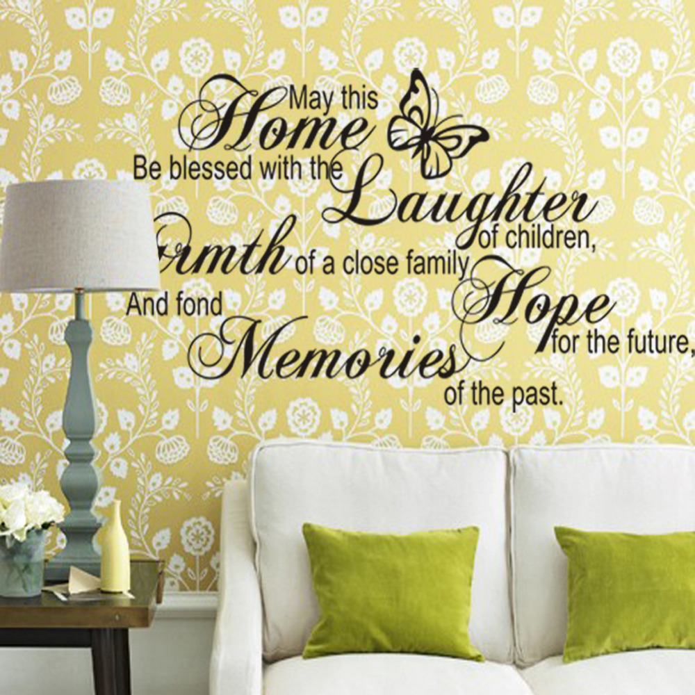 new creative home decor Wall Stickers may this poster quote ...