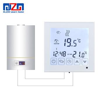 MJZM BGL03-1 cyfrowy termostat do kocioł gazowy temperatura podgrzewania kontroler ekran dotykowy zasilanie bateryjne termostat ścienny tanie i dobre opinie Regulator temperatury BGL03-1 Boiler Thermostat 70 ° C-99 ° C DIGITAL Indoor Ładowarka Wall Hanging 2 0-3 9 Cali AA batteries