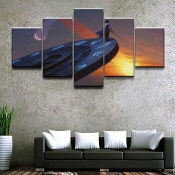 Plakat dekoracyjny do domu HD zdjęć, reprodukcji na płótnie 5 sztuka modułowa magiczne gromadzenie gra malowanie salon malarstwo dekoracyjne oprawione