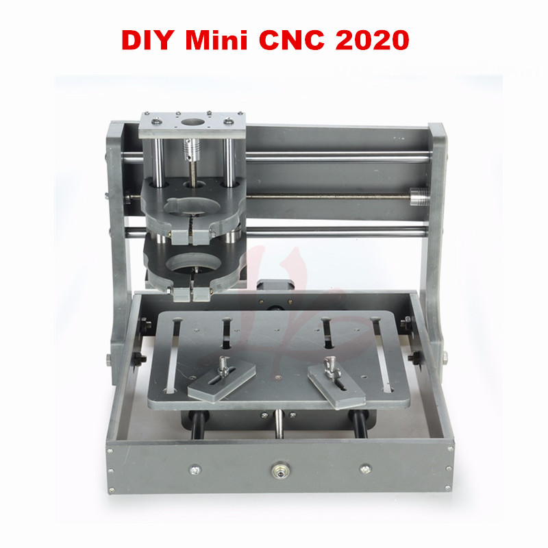 DIY mini CNC 2020 Frame without motor mini CNC router engraving machine eru free tax 4pcs diy cnc router 2020 frame with motor engraving drilling and milling machine