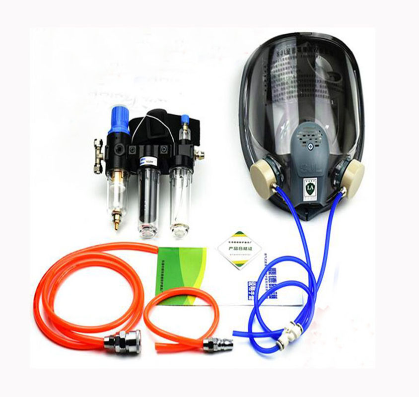 Three In One Function Supplied Air Fed Painting Spraying Respirator System With 6800 Full Face Industry