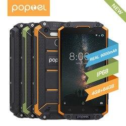 GuoPhone POPTEL P9000 Max водонепроницаемый смартфон, 4 Гб 64 ГБ, экран 5,5 дюймов, Восьмиядерный