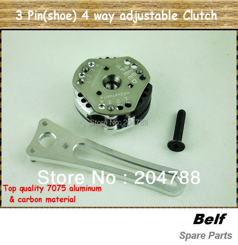 US $69.89  Top quality Big Speed 3 Pin (clutch shoes) 4 stage adjustable Clutch for 15 RC car engines 23262729cc,30.5cc+Free Shipping in Parts &