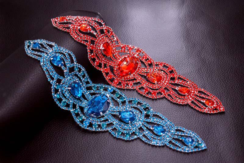 Nähen auf Kristallglas Strass Patches Gürtel Red Stone Trimmen - Kunst, Handwerk und Nähen - Foto 2
