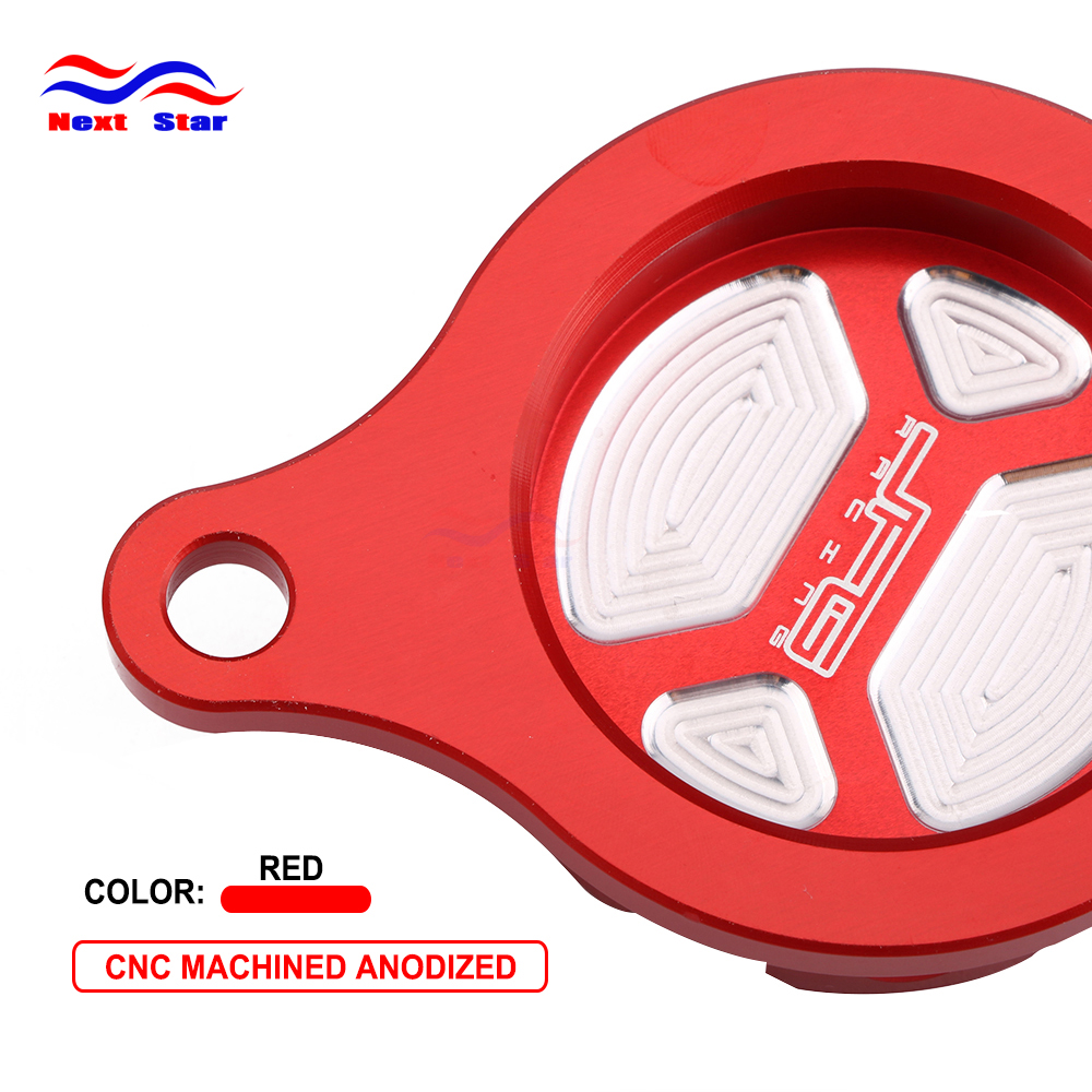 CNC Motorcycle Red Aluminum Engine Oil Filter Cover Cap For Honda CRF450R <font><b>CRF</b></font> <font><b>450R</b></font> 2009 2010 2011 2012 2013 2014 2015 <font><b>2016</b></font> image