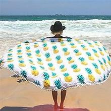 Toalla de Playa ronda Servilleta plage de Ronde Toalla Toalla de Playa Toalla de Playa Manta de Picnic Al Aire Libre para Adultos