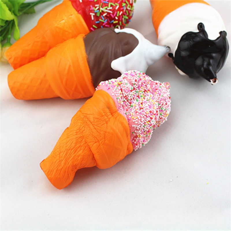17CM Soft Scented Squishy Slow Rising Ice Cream Squeeze Fun Toys Cell Phone Keys Pendant Accessories