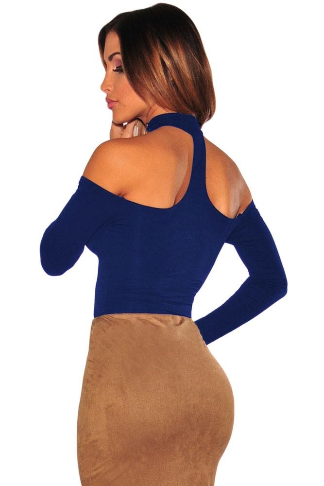 Blue-Choker-Off-Shoulder-Bodysuit-LC32066-5-3