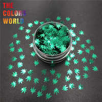 Weed Leaves Pot Leaves 6MM Nail Glitter Nail Art Decoration Body Glitter Handwok Tumblers Crafts Festival Accessories Party DIY