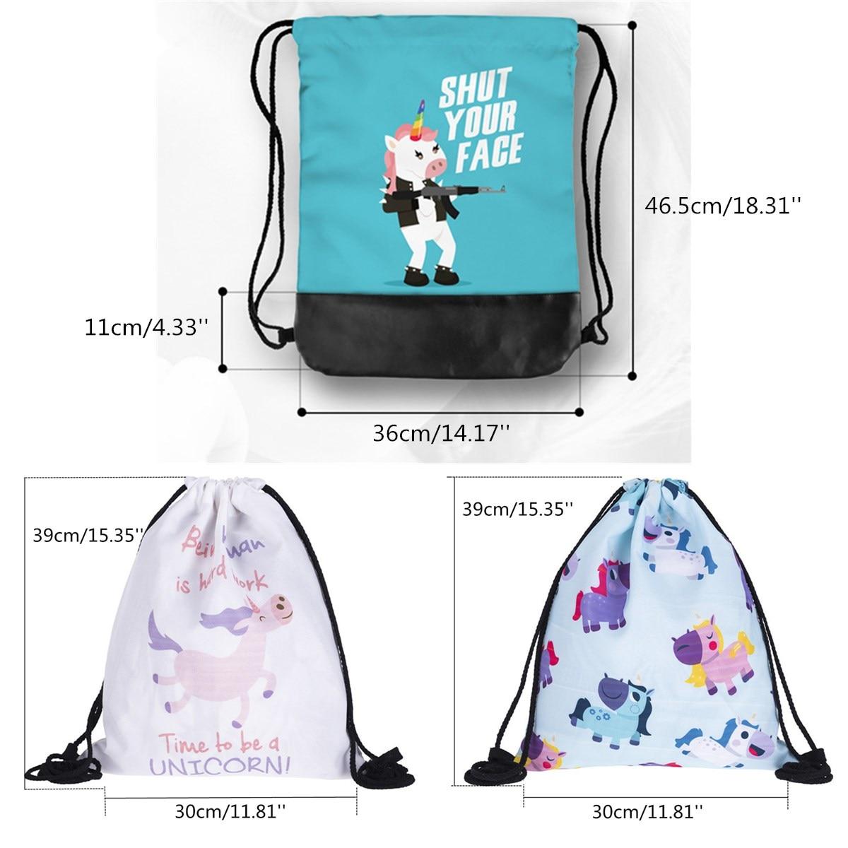 Itemer tela coulisse zaino da viaggio sport borse a tracolla zaino per bambini con sveglia pieghevole Storage Girls albero