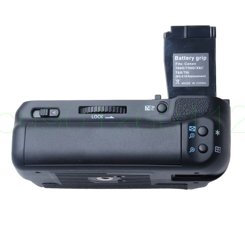 Verticale batterie support de prise en main pour Canon 750D 760D T6i T6s X8i 8000D DSLR Caméra remplacement BG-E18