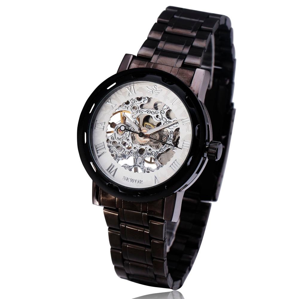 Transparant zwart horloge Herenhorloges Topmerk Luxe Relogio - Herenhorloges
