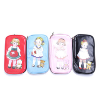 ISKYBOB NEW Stationery Girl Cute Zipper Pen bag Cartoon Doll Makeup Fashion Lovely Bag Pencil Case Cosmetic Bag Gifts Cosmetic Bags