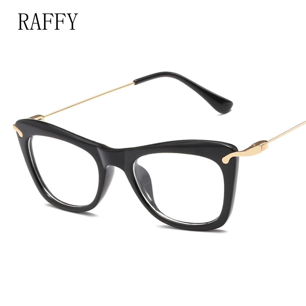f90b9d781c RAFFY Women Eyeglasses Frame Black Square Vintage Metal Optical Frame  Glasses Women Eyeglasses Frames Prescription Glasses
