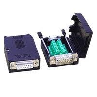 Cobre puro DB15 COM interface de 15 pin masculino feminino conector solderless placa de adaptador para o bloco de terminais Conectores     -