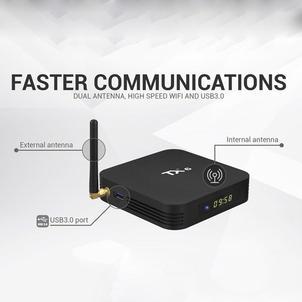 Dernier TX6 2G + 16G/4 GB + 32 GB pour Android 9.0 TV Box Allwinner H6 Quad Core USD3.0 double Wifi BT4.2 4 K Google Youtube Smart Box