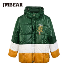 JMBear 6-14 years boys parka kids winter long jacket fashion warm snowsuit for children hooded outwear for teenage