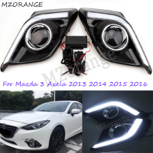 MZORANGE 2Pcs 12V 6000k Day Light LED DRL Day Running Lights Front Fog Light Lamp For Mazda3 Mazda 3 Axela 2013 2014 2015 2016 цена 2017