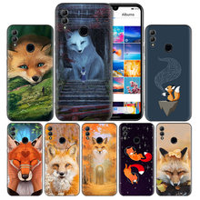 arctic Fox Black Silicone Case Cover for Huawei Honor 8X 8C 8A 8S 10 10i Lite Play V20 Y9 Y7 Y6 Y5 Prime 2018 2019(China)