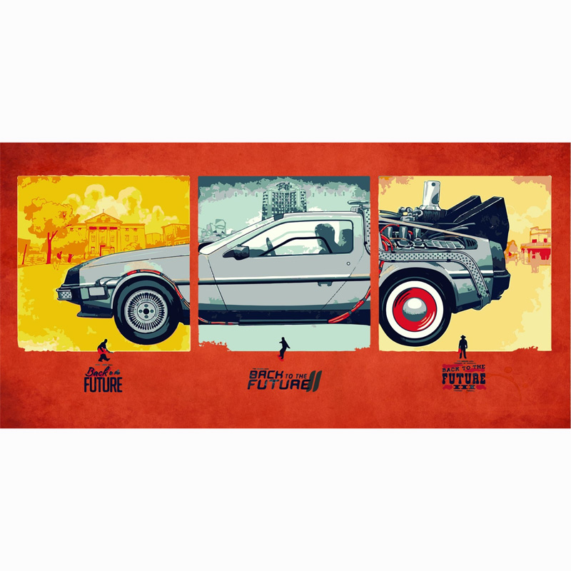 Back to the Future Pattern Bamboo Fiber Beach Drying Towel Bathroom Super Absorbent Hand Face Bath Towels 70*140cm Travel Blank