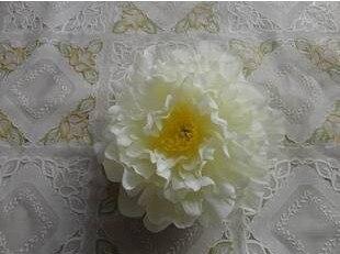 Искусственный Ткань 12 Слои 16 см большой пион роза цветок камелии головка для ювелирных изделий DIY Свадьба Рождество - Цвет: cream