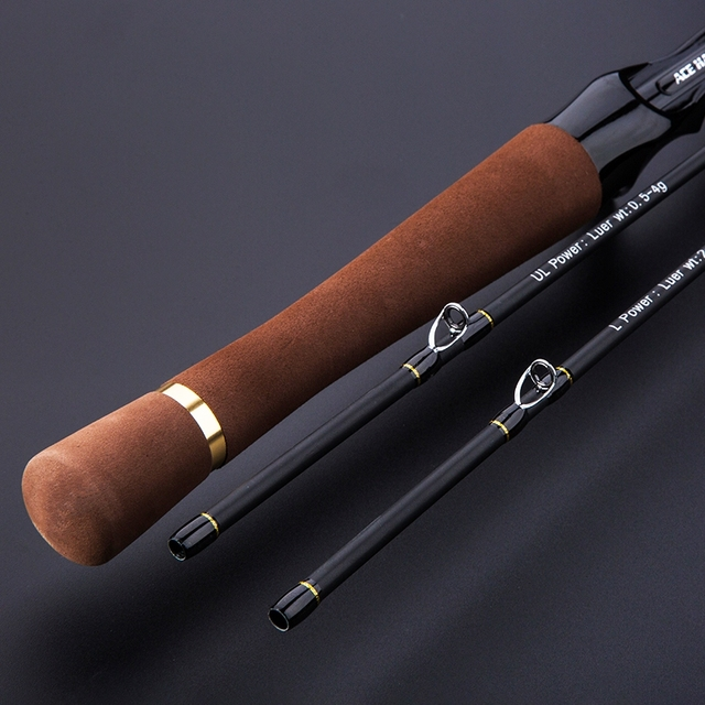 CU DOUBLE NEW 1.8m Lure Fishing Rod Fast Action UL/L Tips Carbon Spinning Rod Jigging Fishing rod 2 sections Fishing Tackle 5