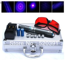 Cheap price High Power Blue Laser Pointers 200000mw 200w 450nm Burning Match/Dry Wood/Candle/Black/Burn Cigarette+5 Caps+Glasses+Changer+Box