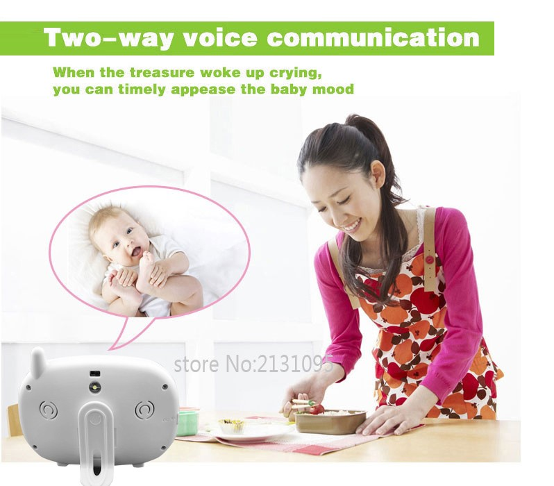 2016 New baba electronics sem fio 3.5inch IR Nightvision Intercom Lullabies Temperature Monitor bateria eletronica doppler fetal (4)