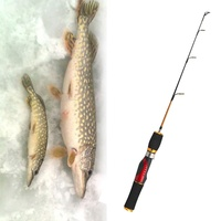 Le Fish 55cm Ice Fishing Rod Fiberglass rods High Quality Winter Fishing Tackle Peche