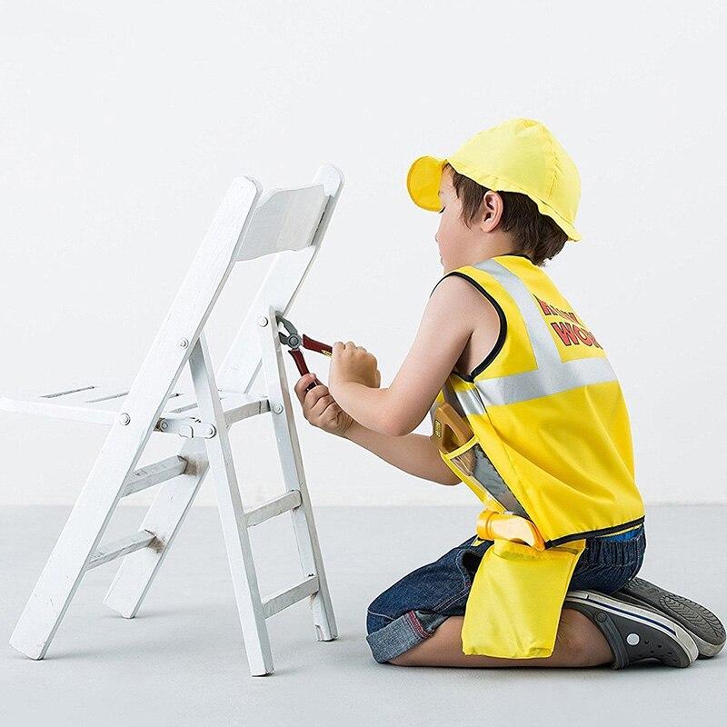 Kinderen Bouwvakker Kostuum Rollenspel Jurk Up Prop Set Educatief Speelgoed Kids Kit Sets