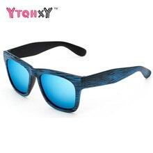 Retro Reflectantes gafas de sol de los hombres De Madera Square Gafas Gafas de Sol de las mujeres Al Aire Libre gafas de sol oculos feminino Y105