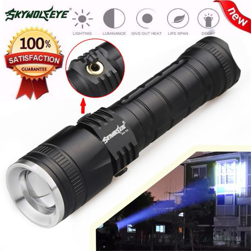 Super Bright 3 Modes CREE XML T6 LED Powerful Flashlight Torch 18650 Zoomable Focus Lamp NOJ06 2x18650 powerful led flashlight 5000 lumen super bright zoomable focus led torch cree xml t6 led tactical outdoor lamp light