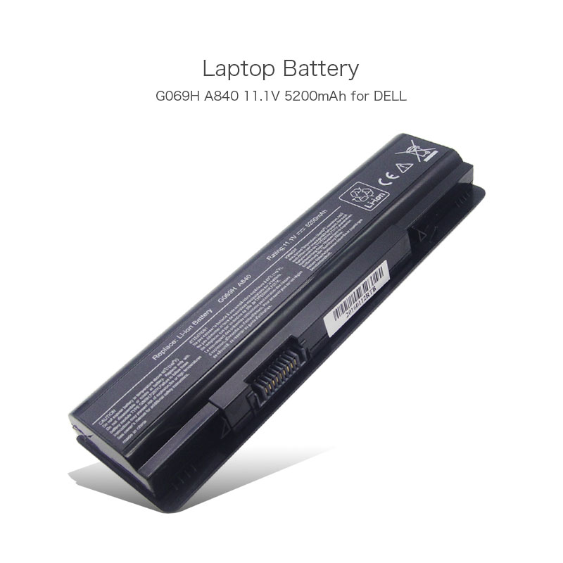 A840 11.1V 5200mAh Buy Laptop Battery Online for DELL Inspiron 1410 PP37L PP38L Vostro A840 Vostro A860 G069H PC Batteries image