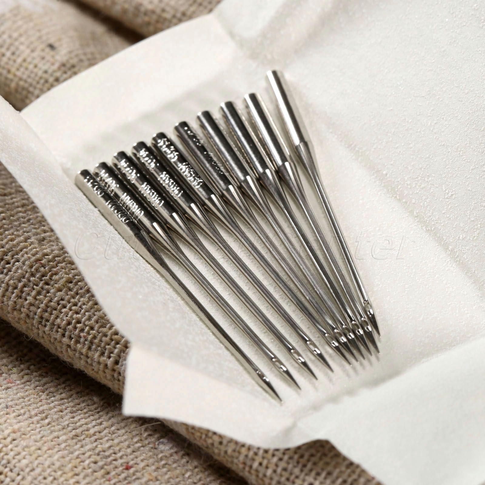 Venda quente 1 Conjunto Total de 50 Agulha De Costura TAMANHO #9 11 14 16 18 Casa Máquina De Costura Agulhas