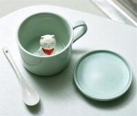 Schöne Keramik Kaffee Milch Tee Becher 3D Tier Becher, Baymax Panda Katze Kuh Schaf Schwein Hund Dolphins Pferd Ente Tassen Großes Geschenk
