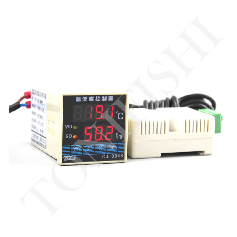 48 48mm CJ 0302 Temperature and Humidity Controller High Accuracy Industrial Thermometer Hygrometer with Sensor