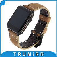 Italian Genuine Leather Watchband Quick Release Adapter For 38mm 42mm IWatch Apple Watch Band Wrist Strap
