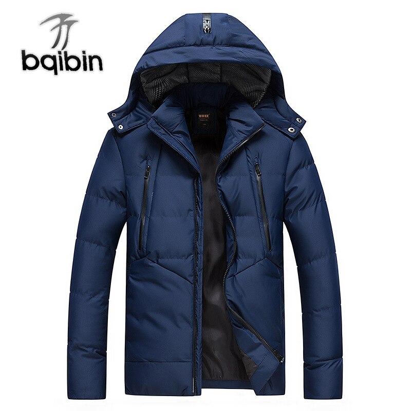 2018 Parkas ฤดูหนาวผู้ชายหนา Hooded Snow บุรุษความร้อนเสื้อกันหนาวชายเสื้อ Outwear Droppshipping คุณภาพสูง-ใน เสื้อกันลม จาก เสื้อผ้าผู้ชาย บน   1