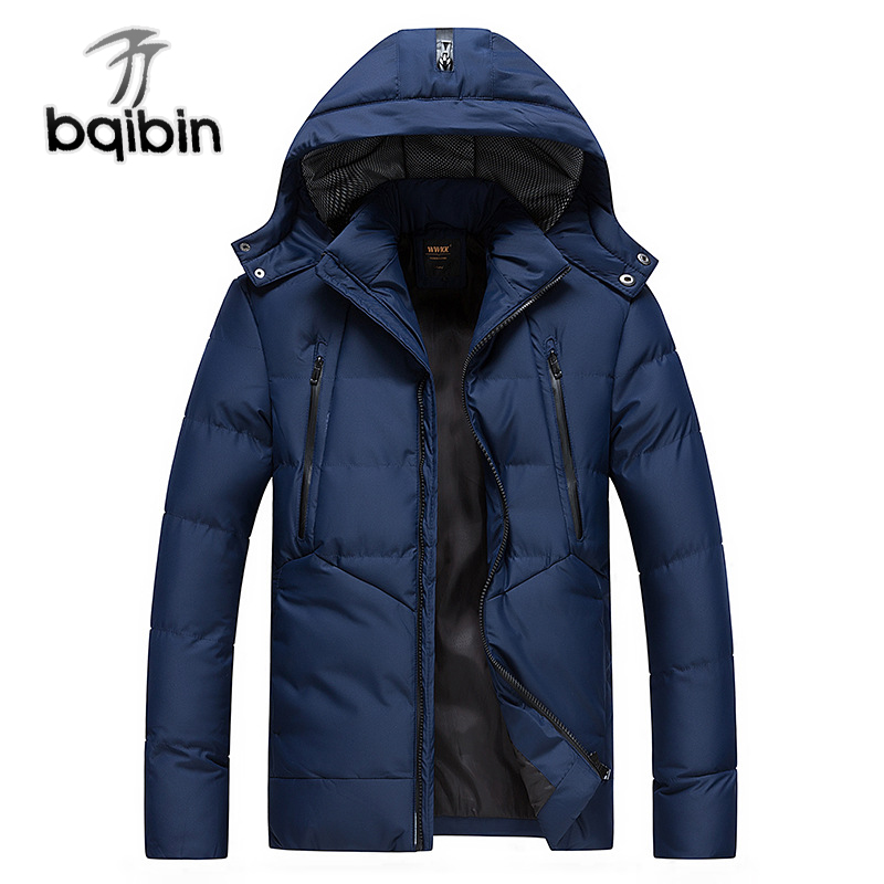 2018   Parkas   Men Winter Thick Hooded Snow Warm Coats Mens Thermal Overcoat Male Jacket Outwear Droppshipping High Quality