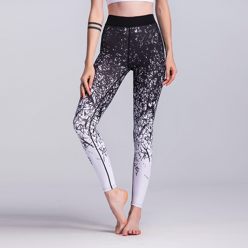 Buy Elastic Slim Yoga Pants Fitness Women High Waist Sports Leggings Quick Drying Training Gym Leggings Energy Tights Active Wear for only 17.63 USD
