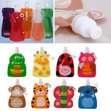 360ml Eco Friendly Foldable Cartoon Water Bag Travel Drink Bottle Safe for  Kids(China) 6fe8b01dff