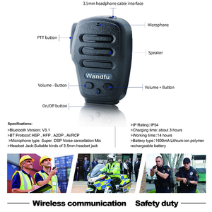 Image 1 - Draadloze Bluetooth Handheld Microfoon Intercom Voor de PTT APP Zello Azett Bper ESChat Bper Voor Apple IOS En Android Systeem