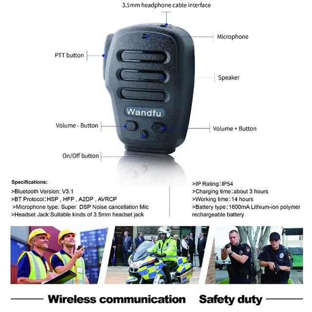 Không dây Bluetooth Cầm Tay Microphone Intercom Cho các PTT ỨNG DỤNG Zello Azett Bper ESChat Bper Cho Apple IOS Và Android Hệ Thống