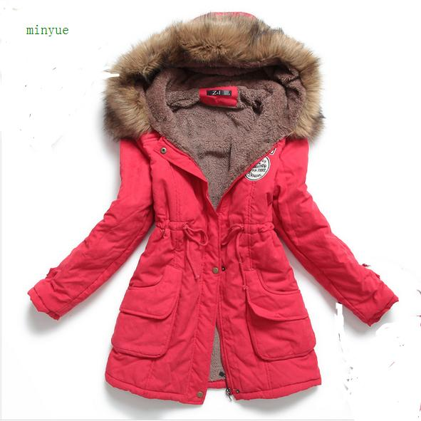 2019 winter   jacket   women down coat New winter plus velvet   basic     jackets   fashion cotton large size hooded   jacket   32189