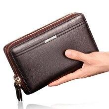 Brand Business Clutch wallet portfolio men's coin pocket men purse Large capacity multi-card bit Casual Fashion wallets недорого