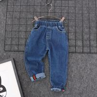 2017 spring new children's clothing children boys and girls children Korean long pants baby stretch jeans 2-3-4-5-6years old