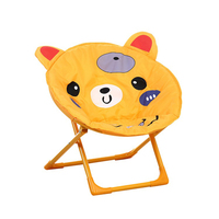 Backrest Washable Chair Children S Moon Chairs Cartoon Small Stool Baby Chair Folding Back Chair Portable