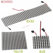 DC5V 8x 8/16x1 6/32x8 WS2812B led piksel panel 2811 ic tek adresli LED modülü rgb LED soğutucu dijital piksel paneli